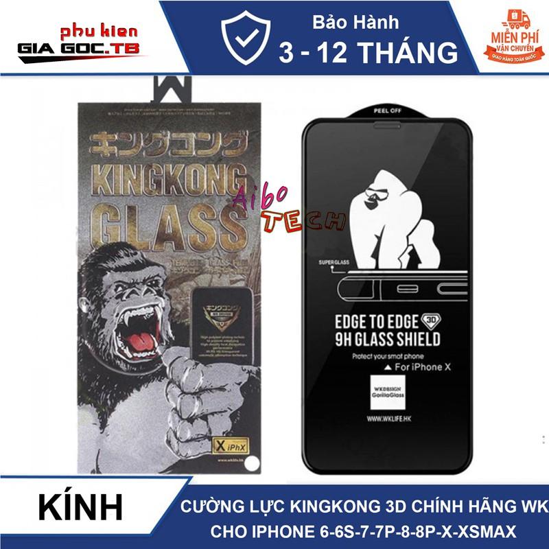 Kính cường lực iphone King Kong chính hãng 6plus/6s/6splus/7/7plus/8/8plus/plus/x/xr/xs/11/12/pro/max [BH 1 đổi 1]