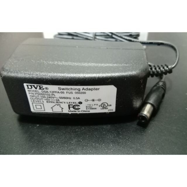 Nguồn Adapter 5V2A 5.5x2.1 DVE Hàng Chính Hãng