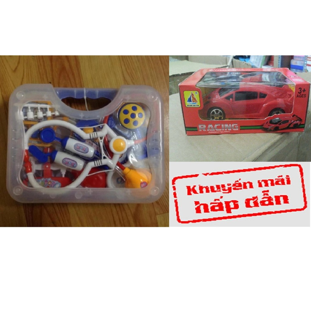 Bộ đồ chơi bác sĩ cho bé - tặng 1 ô tô điều khiển từ xa Racing cho bé thỏa sức chơi