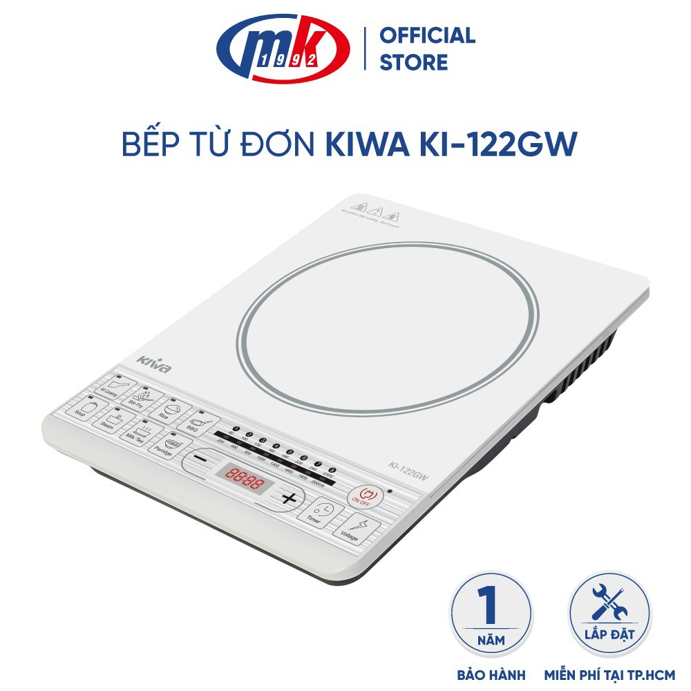 Bếp từ đơn Kiwa KI-122GW - Công suất 2000W - Bảo hành chính hãng 12 tháng Mekong