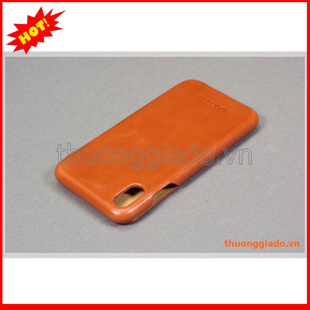 Bao da cầm tay iPhone Xs Max (6.5″), hiệu ICarer, da bò mịn – BẮC TỪ LIÊM