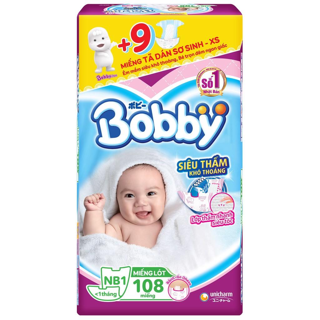 Miếng lót sơ sinh Bobby Newborn 1-108 miếng