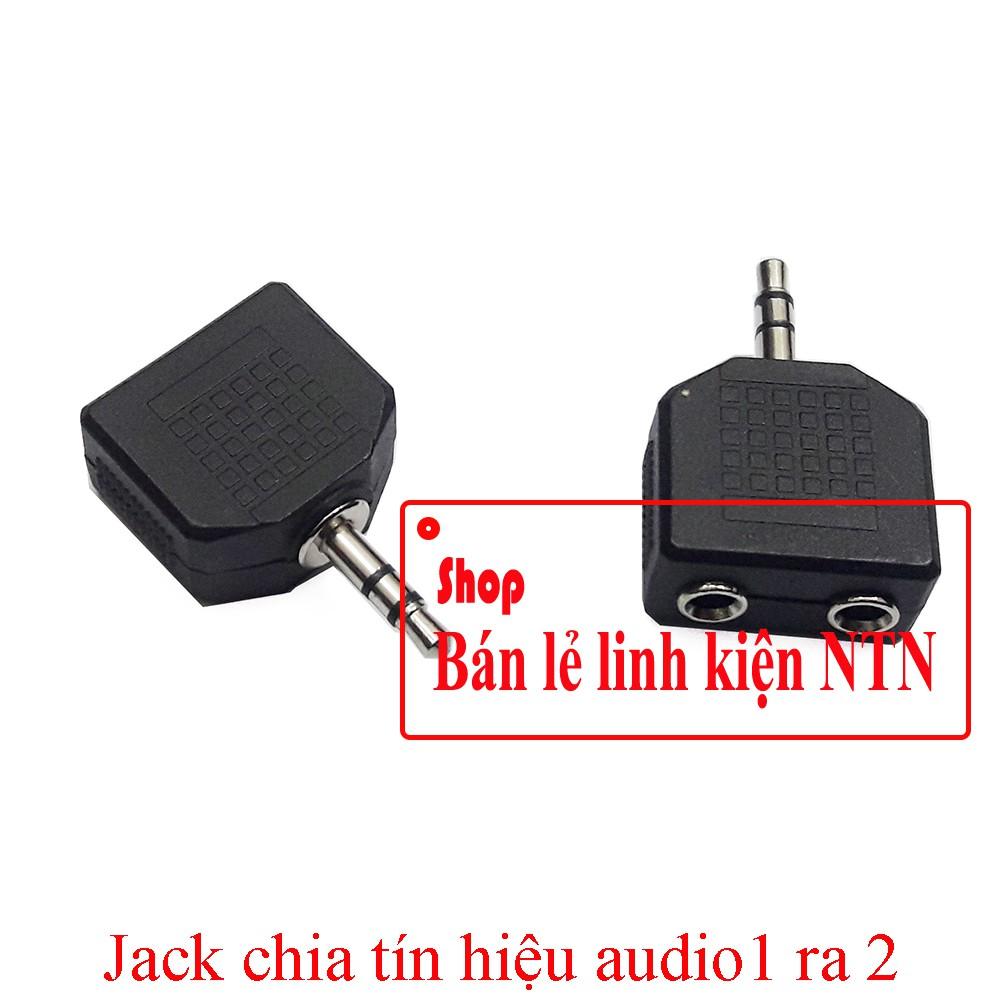 Jack chia tín hiệu audio 3.5mm 1 ra 2