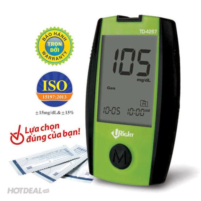 Máy đo đường huyết Uright TD 4267 Tặng kèm 25 que thử rời