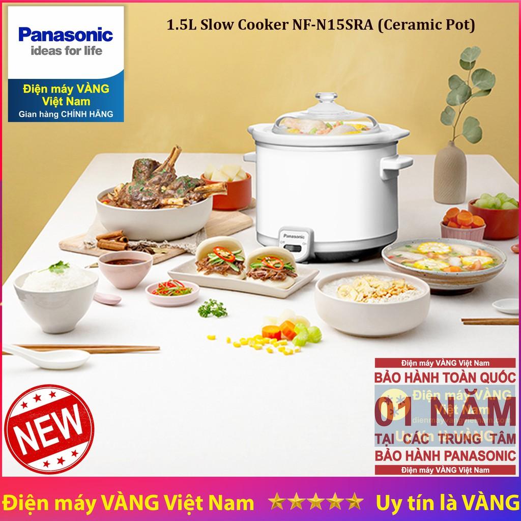 [Mã 267ELSALE hoàn 7% đơn 300K] Nồi nấu chậm Malaysia 1.5 lít Panasonic NF-N15 SRA