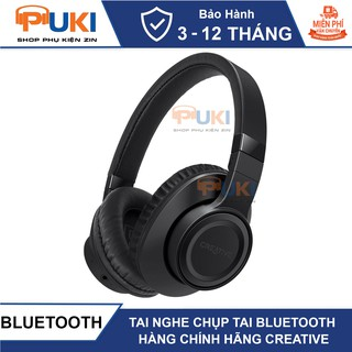 Tai Nghe Chụp Tai Over Ear Bluetooth Cho Game Thủ- Hàng Chính Hãng Creative Outlier Black