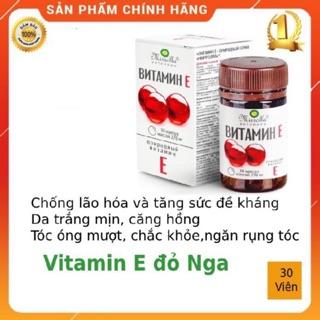 Viên uống Vitamin E đỏ của Nga 270mg hỗ trợ làm đẹp da chống lão hoá