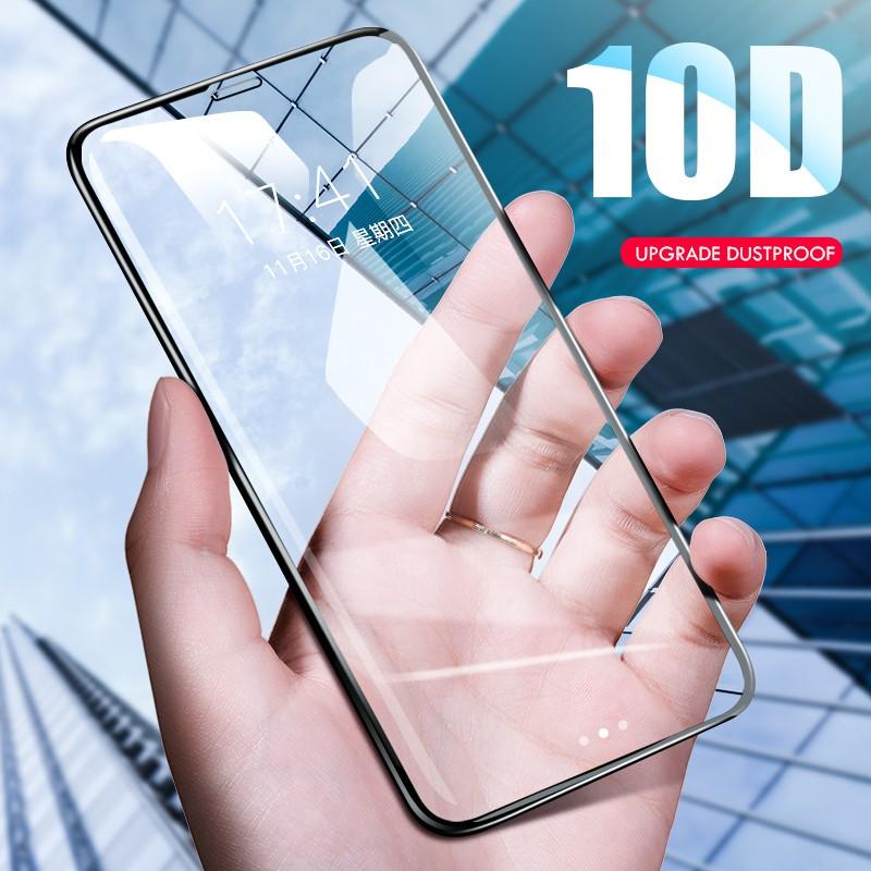 Kính cường lực toàn màn hình bo cạnh 10D xịn cho iPhone 6 6s 7 8 9 6P 7P 8P X XR XS XSMax
