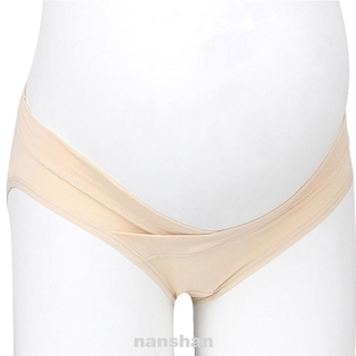 Solid Home Breathable Washable Low Waist U-shaped Cotton Blend Non-deformation Pregnant Women Underwear