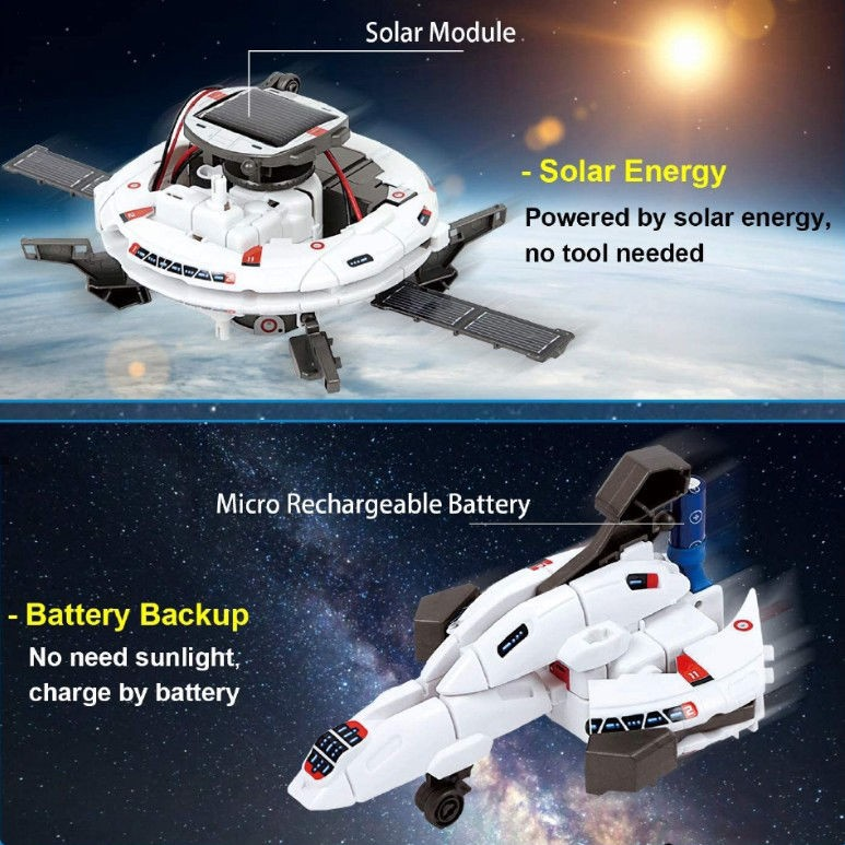 【happylife】STEM Solar Robot DIY 6-in-1 Puzzle Assembling Toy Space Invention and Production Elementary School Science and Technology Festival [Posted on...
