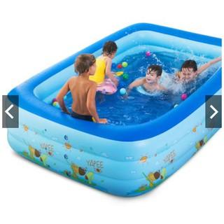 Bể phao bơi 3 tầng cỡ lớn 2m1 cho bé và gia đình