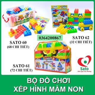 Bộ đồ chơi XẾP HÌNH MẦM NON Sato60-61-62