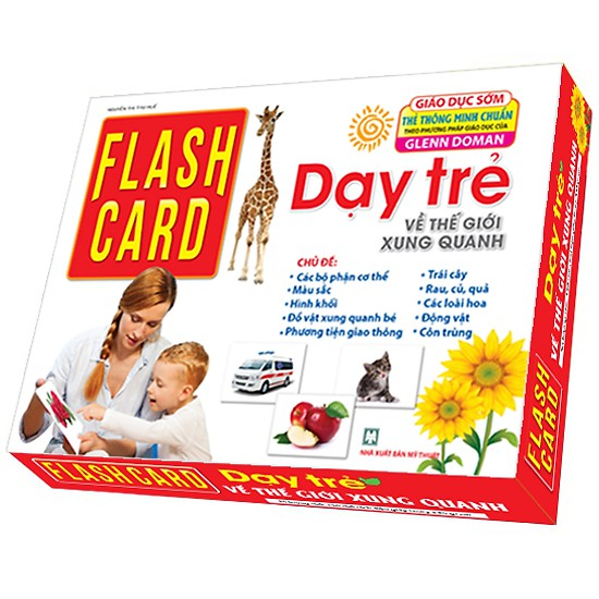 Sách - Flashcards – Dạy trẻ về thế giới xung quanh (tái bản 2019)