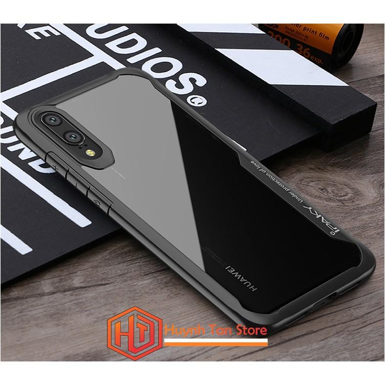 Ốp lưng Huawei P20 Pro _ Ốp chống sốc mặt lưng trong suốt viền màu IPAKY Ver 2