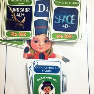 Bộ ảnh thẻ Không gian và Nghề nghiệp vừa học vừa chơi cho bé
