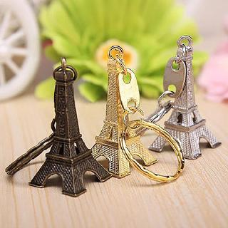 Kim loại Paris tháp Eiffel Mặt dây chuyền Móc khóa