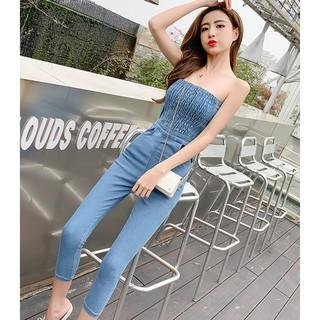 Jumpsuit Jeans H4456 Thời Trang Quyến Rũ Cho Nữ