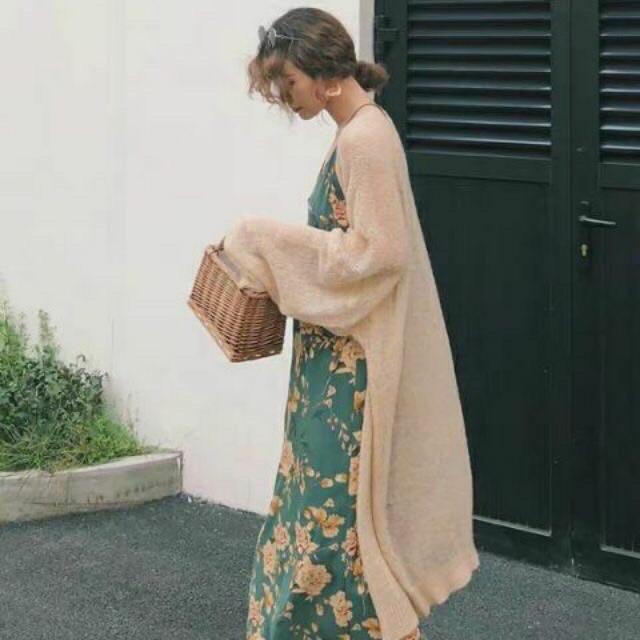 Áo len khoác cardigan mỏng hot hit - dáng dài (85~90cm) (812#)