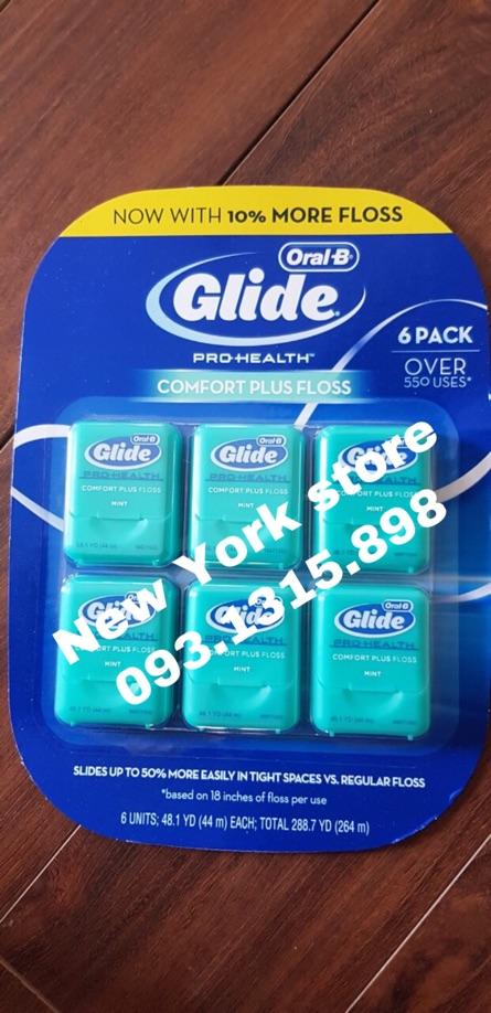 Chỉ nha khoa Glide Oral B USA 44m - vỉ 6 cái