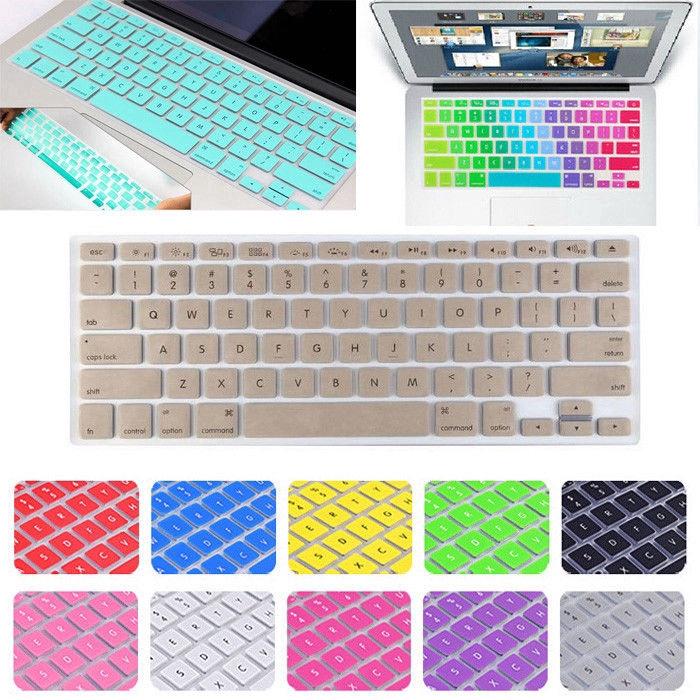 Miếng lót bảo vệ bàn phím silicon chống bụi thời trang cho MacBook Pro 13