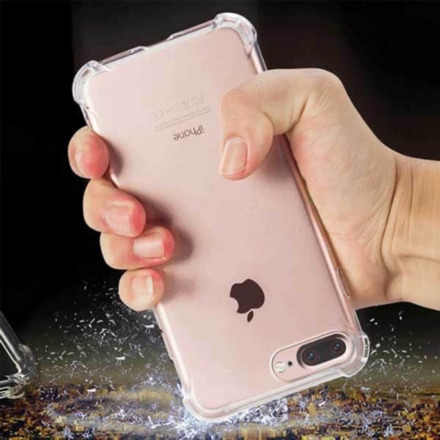 Ốp lưng dẻo 4 gốc chống sốc trong suốt cho IPHONE