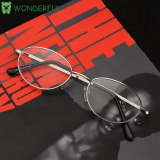 WONDERFUL Metal Half Moon Eyeglasses Ultra Light Resin +1.00~+4.0 Diopter Reading Glasses