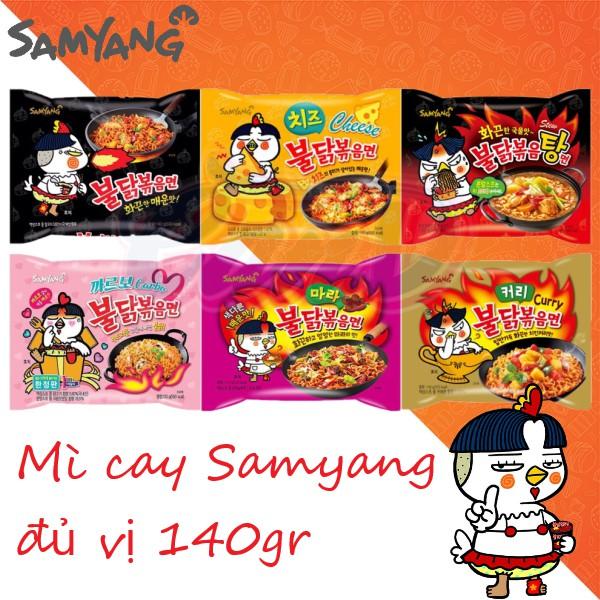 (8 vị) Mì cay Samyang đủ vị 140gr