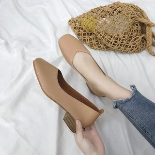 Giày Da Mềm Đế Vuông Thời Trang Cho Nữ thumbnail