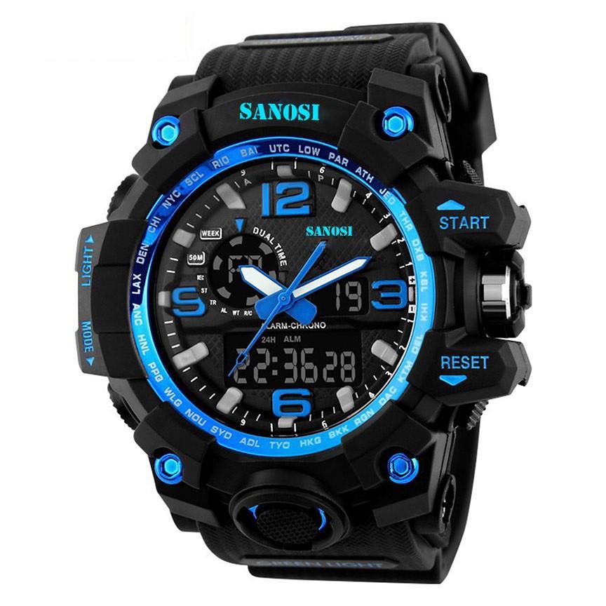 Đồng hồ thể thao nam SANOSI điện tử đẳng cấp Quân đội Siêu chống nước