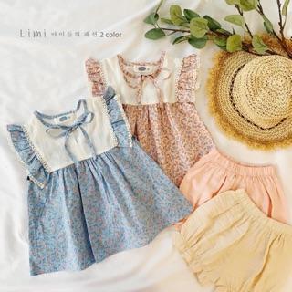 Set quần áo thô cánh tiên cho bé gái