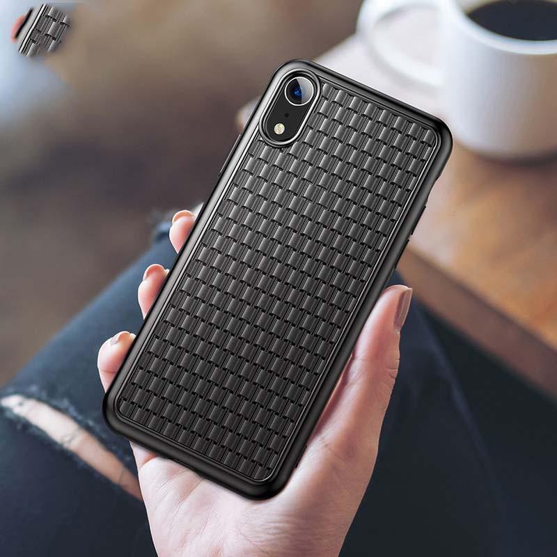 Ốp lưng chống sốc, tản nhiệt Baseus Luxury Weaving Case cho iPhone X/XS (Ultra Thin Soft TPU Silicone)