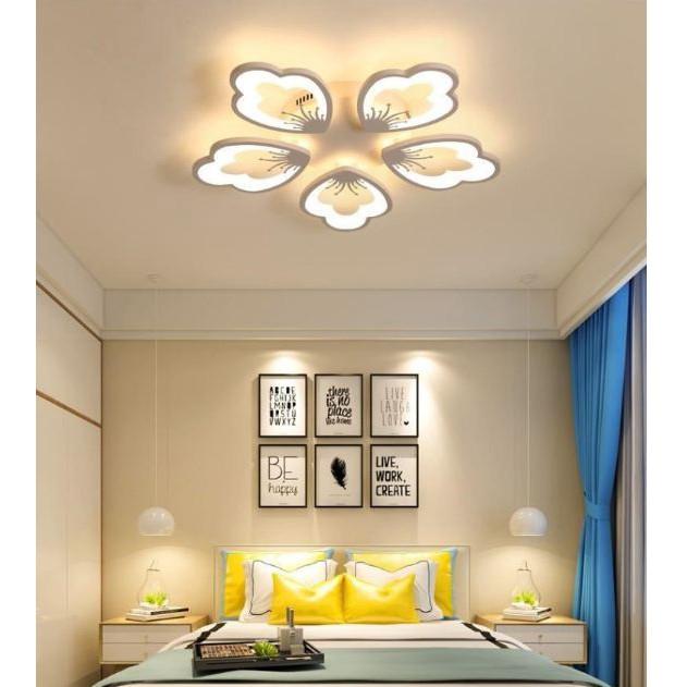 Đèn trần- Đèn ốp trần LED SUSHIO 5 cánh hoa cao cấp