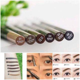 Chì Kẻ Mày 2 Đầu THE FACE SHOP Hàn Quốc - Make Up Lông Mày thumbnail