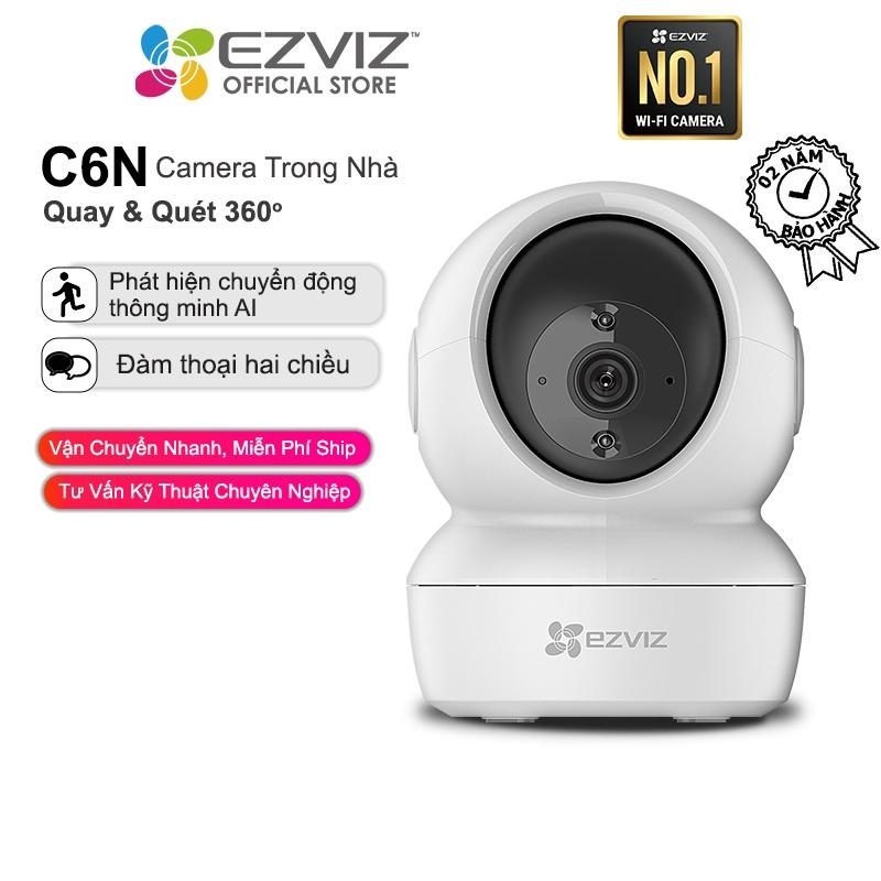 Camera WI-FI Trong nhà EZVIZ C6N-1080P, Smart IR Quan Sát Ban Đêm 10m, Đàm Thoại 2 Chiều, theo Chuyển Động Thông Minh