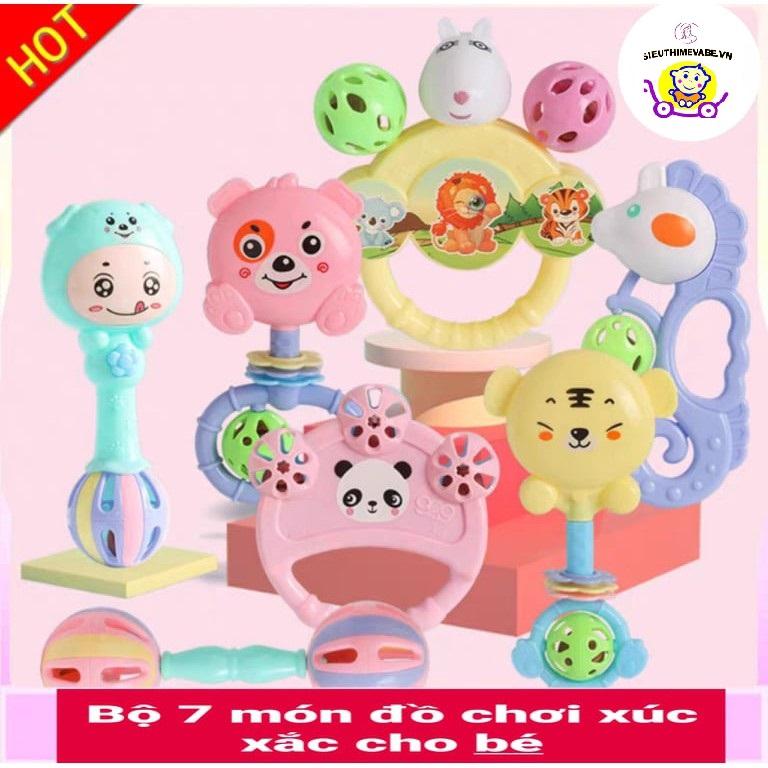 Bộ đồ chơi xúc xắc 7 món, 8 món cho bé cao cấp