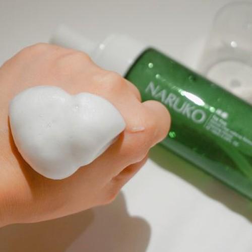 Nước tẩy trang dạng bọt trà tràm Naruko Tea Tree Blemish Clear Makeup Removing Cleansing Mousse 150 ml (Bản Đài)