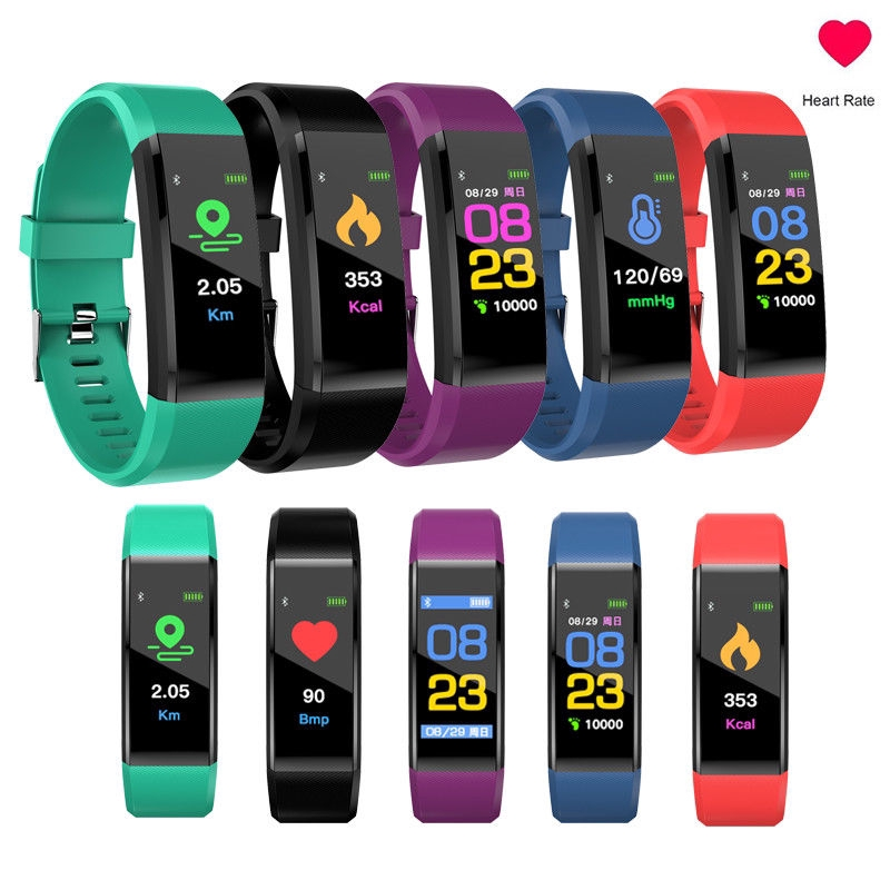 ID115plus Bluetooth Smart Watch OLED Heart Rate Sport Bracelet Pedometer Tracker
