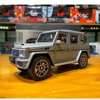 [Mã TOYJULY hoàn 20K xu đơn 50K] Mô hình xe ô tô siêu xe Mercedes-Benz G63 G-Klasse tỉ lệ 1:24 màu bạc