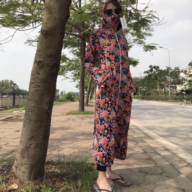 Váy choàng nắng chất lanh