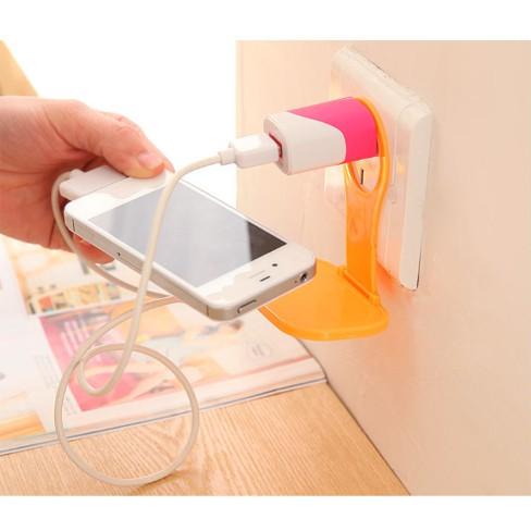 Miếng treo điện thoại khi sạc pin tiện dụng xinh xắn, tấm nhựa treo điện thoại, miếng giữ sạc