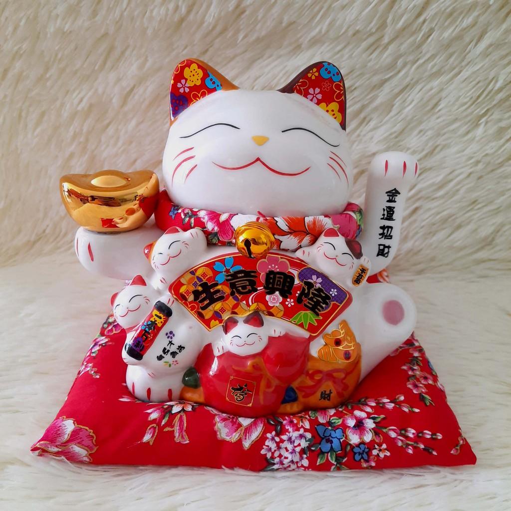 Mèo Thần Tài Vẫy Tay Cao 16cm