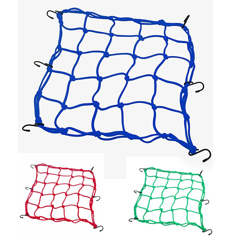 Heavy-duty Cargo Net for Motorcycles, ATVs - Blue