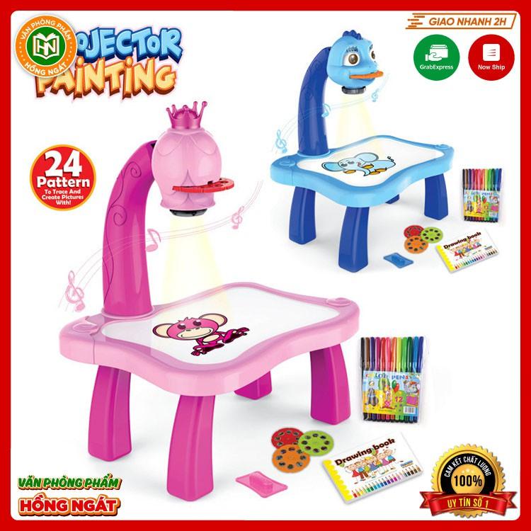 Đồ chơi bàn vẽ thông minh có máy chiếu hình ảnh cho bé tập tô vẽ sáng tạo phù hợp trẻ em từ 2 tuổi