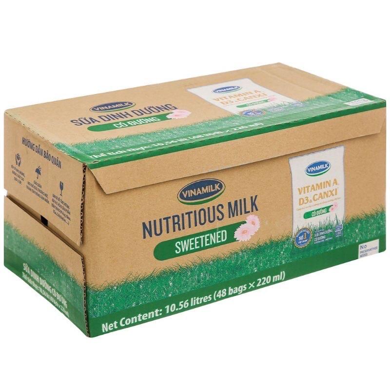 Thùng sữa vinamilk đàn bò