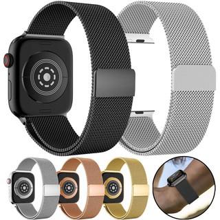 HOT 2021 dây đeo thay thế dành cho đồng hồ Apple Watch lưới thép không gỉ Mloop KHÓA Magnetic chắc chắn thumbnail