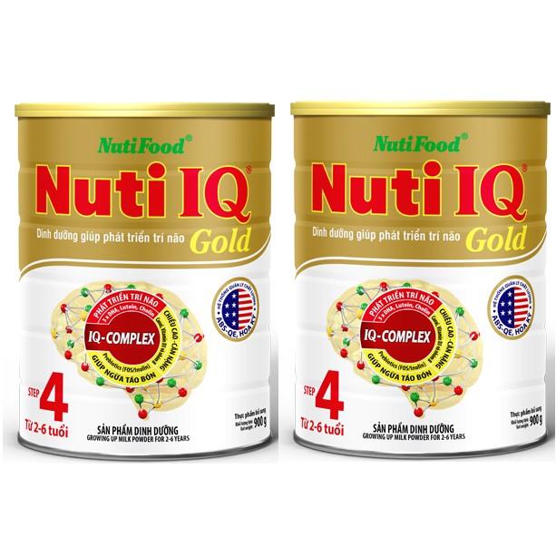 Bộ 2 hộp Sữa bột NutiFood Nuti IQ Gold 4 (900g) date05,06/2019