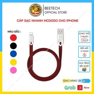 Cáp sạc iPhone dây dẹt chính hãng Mcdodo, Dây sạc nhanh 2.4A cho iPhone iPad - Beetech thumbnail
