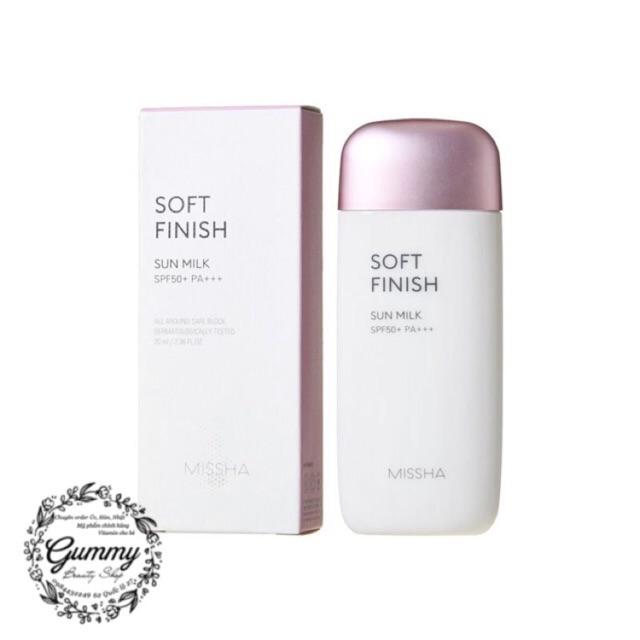 [MẪU MỚI] Kem chống nắng Missha Soft Finish Sun Milk 70ml nhập khẩu