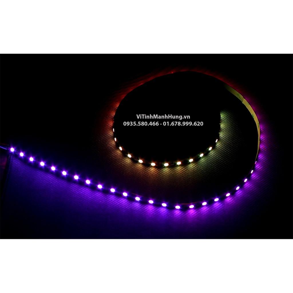 Quạt Led 12cm RGB Coolmoon V2 - Led vòng 2 mặt, Hub có Led hoặc đồng bộ Mainboard Sync.