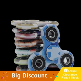 ★Ready Stock★Camouflage Tri Hand Spinner Finger Spin Home Office Desk Toy Stress Reducer
